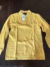 Polo Ralph Lauren Boy Dark Yellow Long-Sleeve Polo Shirt Size L (14-16)