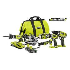 NEW - Ryobi P884 One+ Plus 18V Battery Lithium Ion Kit Impact Drill Saw Light !!