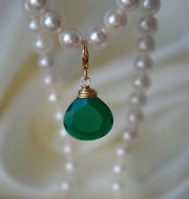 Smaragdgrün Onyx Facettiert Anhänger Emerald Green Onyx faceted Pendant