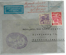 1937 Netherlands Indies KLM First Flight Cover to Batavia