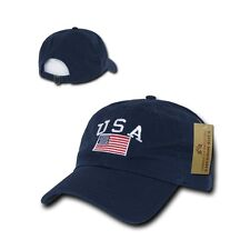 American Flag USA US Patriotic United States of America Polo Baseball Hat Cap