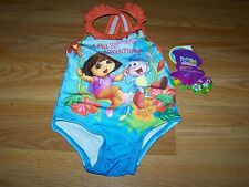 Size 12 Months Dora the Explorer & Boots One Piece Swimsuit Bathing Swim Suit