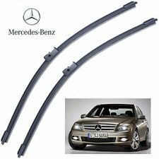 "Mercedes C Class W204 2008- Front Wiper Blade Aero Set 24""+24"" Made in Germany"