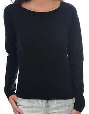 Balldiri 100% Cashmere Kaschmir Damen Pullover Rundhals 2-fädig schwarz XS