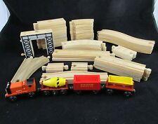 Thomas the Train Rusty Cement Mixer Dumper Coal Car 36 pcs Compatible Wood Track