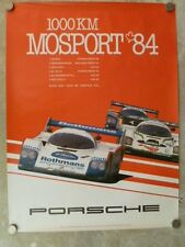1984 Porsche 956 Mosport Victory Showroom Advertising Poster RARE!! Awesome L@@K