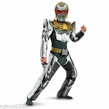 Power Rangers Megaforce Size 8 M Robo Knight Muscle Costume New Childs Halloween