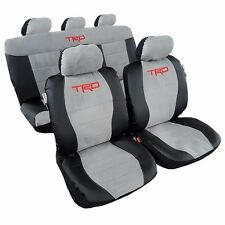 New Car Seat Covers Faux Leather w/t Sude TRD Sports Airbag Universal For Toyota