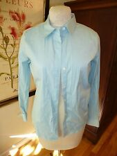 """Theory stretch cotton button down """"Larissa"""" """"Luxe"""" """"Oasis"""" Turquoise L EX $185"""