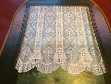 "AUSTRIAN STYLE CREAM NET FLOUNCE CURTAIN+160"" WIDE X 48""+SCOTTISH LACE+LAST EVER"