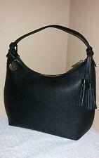 New Dkny Vintage style leather hobo shoulder bag black $325 + tx