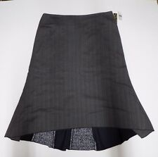 Woman Skirt John Paul Richard Uniform Grey Size 16 Full Skirt Hi Lo Hem