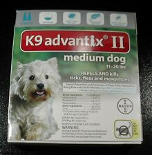 K9 ADVANTIX II for Medium Dogs 11-20 lbs 2pk   !!! U.S EPA APPROVED !!!