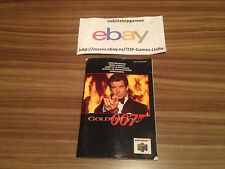 GOLDEN EYE 007  ** MANUAL DE INSTRUCCIONES NINTENDO 64  **BUEN ESTADO