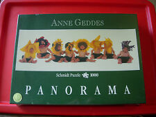 Anne Geddes FLOWER BABIES 1000 pc PANORAMIC Jigsaw Puzzle NEW SEALED Sunflowers+