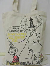CreamMoomin/ Miss Little Light Hous Printed Girl/Teen Medium Size Tote Bag w/tag