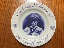 1937 WORLD SCOUT JAMBOREE, HOLLAND POTTERY WALL PLATE BADEN POWELL