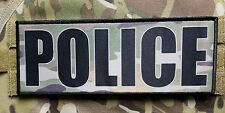 "3x8"" POLICE Multicam Hook Back Morale Raid Patch Badge SWAT for Plate Carrier"