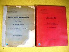 Rudolf Steiner - 2 alte Manuskripte nur für Mitglieder 1907 1915  Anthroposophie