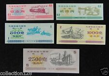 China Tianjing City Coupons A Set of 5 Pieces 1972 1986 UNC