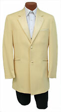Boys Size 8B Yellow Green Monaco 1 Btn Notch w/ Trim Retro Tuxedo Jacket Kids