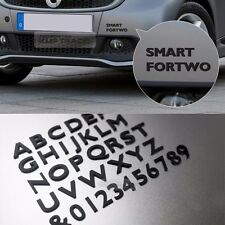 Black 3D Letters 16mm Emblems 111pcs Auto Alphabet Numbers for Car Bike Room