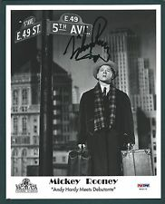 """Mickey Rooney Signed 8""""x10"""" photo PSA Authenticated"""