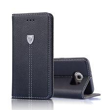 Luxus Flip cover Tasche Leder Handy Case Schutz Etui für Samsung Galaxy S6 Edge