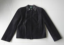 Danier Genuine Leather Suede Jacket Size 12-14 Large Made in Canada