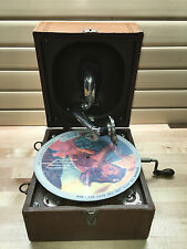 Decca Junior Portable Gramophone w/ Telesmatic Phonograph Reproducer Sound Box