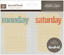 Studio Calico WEEKDAYS (8) JOURNAL CARDS scrapbooking