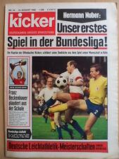 KICKER 34 - 19.8. 1968 Braunschweig-HSV 1:0 Dortmund-Gladbach 1:3 Beckenbauer