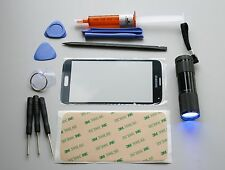 Samsung Galaxy S5 Black Front Glass Screen Replacement Kit Uv LCD Glue & Light