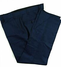 TAILORED FLAT FRONT DARK BLUE MOHAIR TROUSERS, WORK / OFFICE, SIZE 40R, MB098