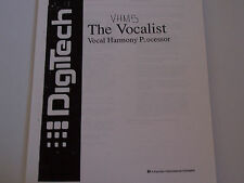 VHM5 The Vocalist Digitech Vocal Harmony Processor PDF Manual