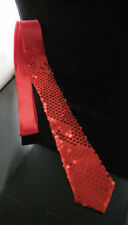 "Handmade SATIN SEQUINNED Party Plain 2"" Skinny Neck Tie Fancy Dress Magic Show"