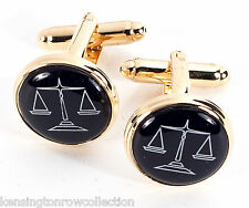 """MENS GIFTS - """"LEGAL EAGLE"""" CUFF LINKS - SCALES OF JUSTICE CUFFLINKS - LAWYER"""