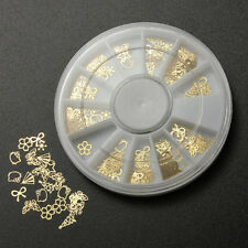 1PC Gold Metal Nail Art Tip Sticker Wheel DIY UV Gel Polish Manicure Decor