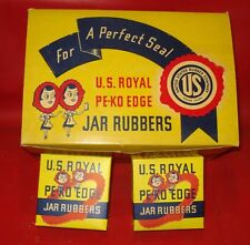 US ROYAL store display box of 24 full PEKO FRUIT JAR CANNING RUBBERS ADVERTISING