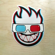 Spitfire vinyl sticker skateboard wheels flame 3D glasses movie red blue DLX SK8