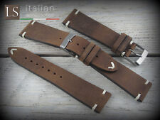 Cinturino in Pelle LS TABACCO VINTAGE 22 mm Watch Strap Band Tabacco