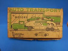 Vintage Marx Auto Transport Truck & Cars Old Store Stock Nice