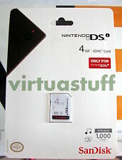 SanDisk, SDHC CARD, 4 GB, Nintendo, memory card, Wii, DSI, MP3, music storage