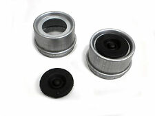 TWO - 2000 3500 1.98 Trailer Axle Dust Cap Cup Grease Cover RV Camper EZ Lube