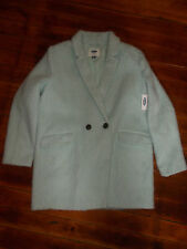 Old Navy Wool Blend Winter Blazer Fuzzy Coat Women's Size L MINT GREEN NEW NWT