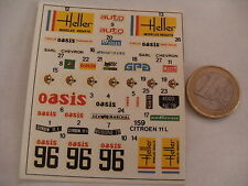 decals decalcomanie pour citroen traction 1/43