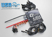 Q-Brain 20A 4 In 1 Brushless ESC for 2-4s LiPo 5v 3A BEC 3.5mm Bullet OneShot125