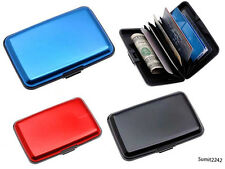 2 piece Set Aluma Aluminium Cash Credit Card Holder Unisex Wallet Purse
