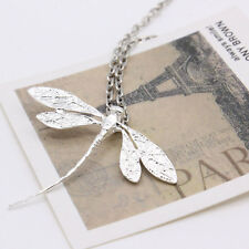 Cute Pastoralism Dragonfly Pendant Chain Necklace Gold Silver Jewelry For Lady