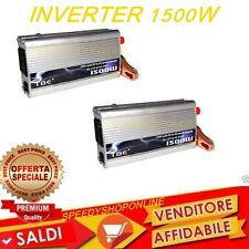 INVERTER 1500 W PER AUTO CAMPER 12V 220V  CAMPEGGIO VIAGGIO BARCA